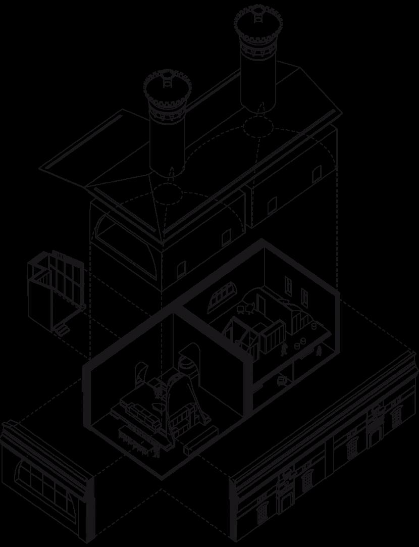 Схема двухуровневого апартамента под куполом